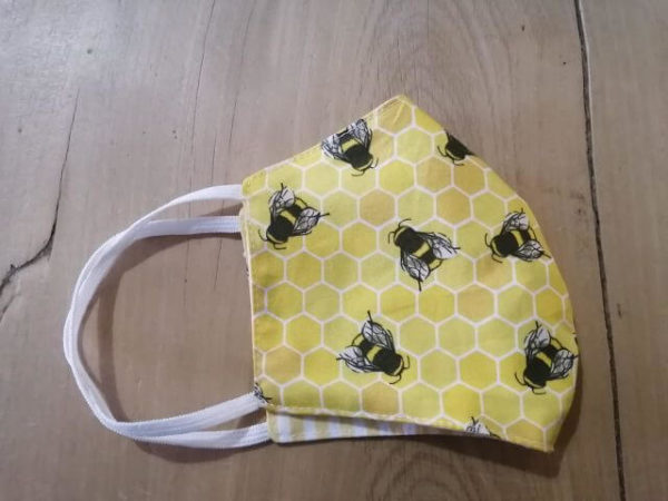 Double Layered 100% Cotton Bee Face Mask